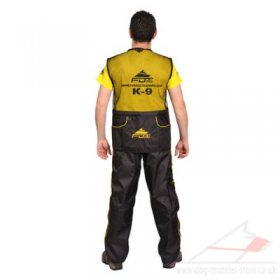 Black Training Vest for Dog Handlers, Dog Trainers Vest