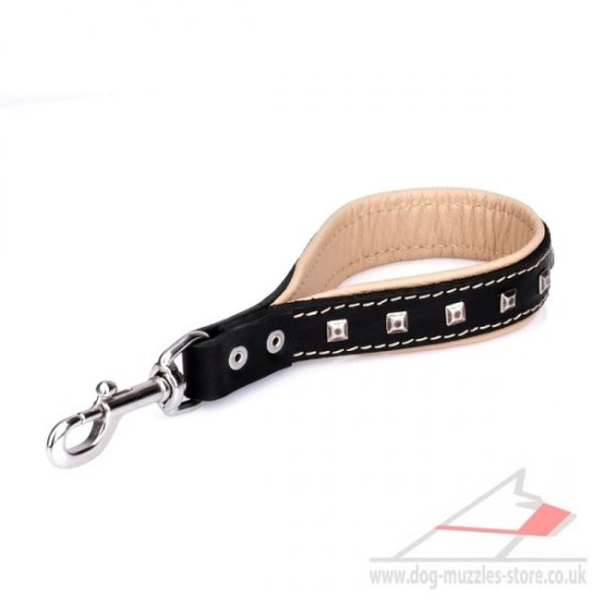 New Short Dog Leash 'Extra Chic'12 inch (30 cm)