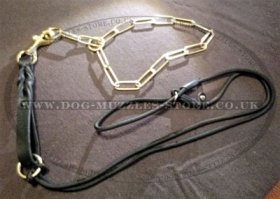 Short Dog Lead Braided Leather (19mm)