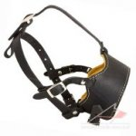 Soft Padded Leather Muzzle for Dog