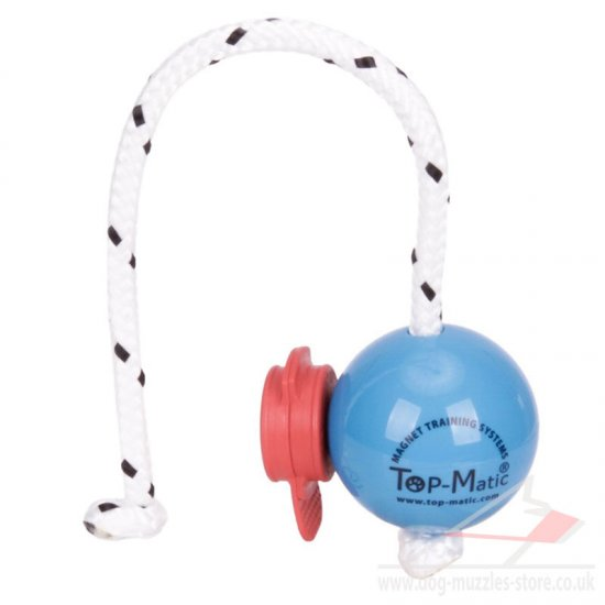 Top Matic Soft Plastic Dog Ball on Rope & MAXI Power-Clip