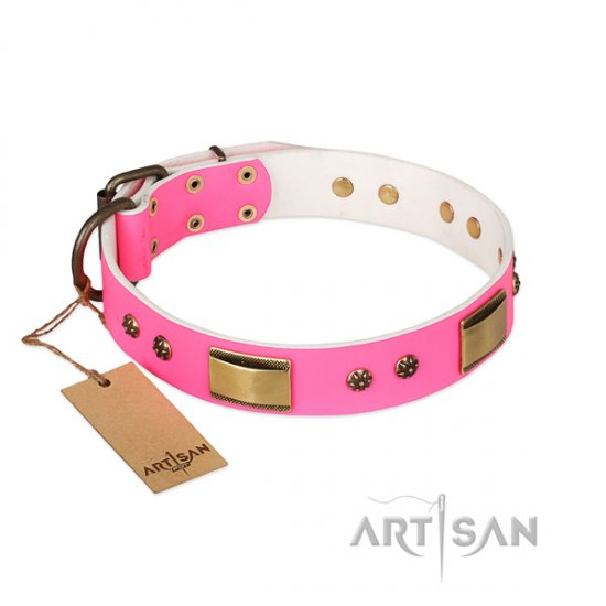 Amazing Luxury Dog Collar FDT Artisan 'Pink Daydream'