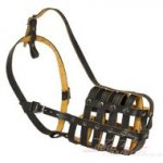 Soft Dog Muzzle Basket with Calve Leather Lining