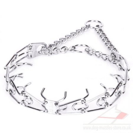 HS Metal Prong Dog Training Collar Chrome-Plated Steel Wire 3 mm