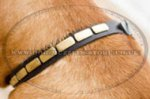 Leather Dog Collars for Dog De Bordo with Brass Plates