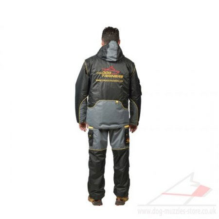 "Pro IGP Dog Training Clothing ""Protective Suit"" in Black/Gray"