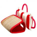 Dog Training Biting Pad | Jute Pad with 3 Handles, Jute Covered