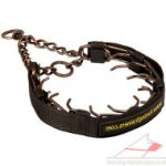 Steel Dog Collar Copper Plated | Prong Dog Collar 3 mm Wire