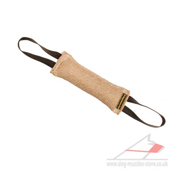 Jute Dog Bite Tug with 2 Handles for Dog Motivation in Training