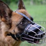 GSD Training Dog Muzzle Wire Basket