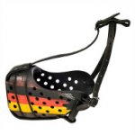 NEW Painted Dog Muzzle in German Style, Pro K9