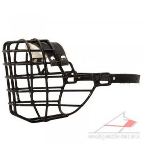 German Shepherd Black Muzzle for Dogs Rubber Covered Wire Basket