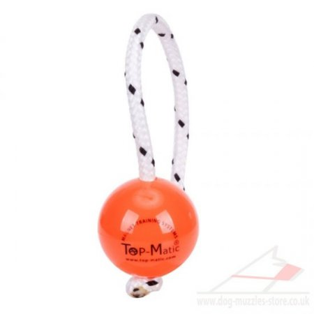 Orange Top Matic Fun Magnetball | Dog Ball on a String ø6.8 cm