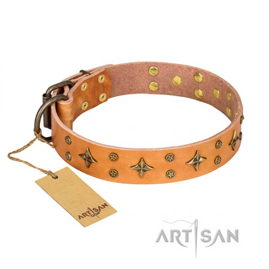 New Handmade Leather Dog Collar 'Top-Flight' by FDT Artisan