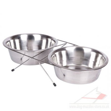 Deep Stainless Steel Dog Bowls With Stand