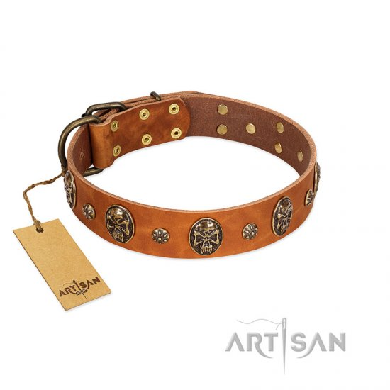 Tan Leather Dog Collar FDT Artisan