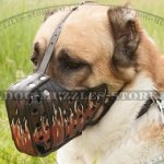 Asian Shepherd k9 Dog Muzzle with Exclusive Painting