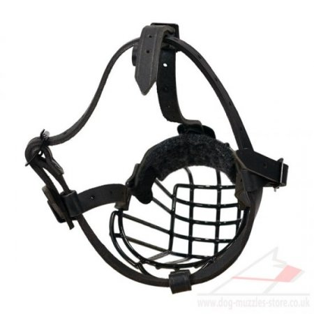 "Strong Metal Wire Basket Dog Muzzle ""For Everyone"""