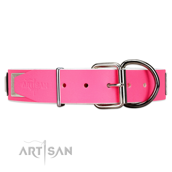 buy Girly pink dog collar Artisan UK