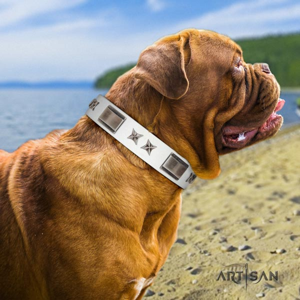 Artisan designer dog collar for Dogue de Bordeaux UK
