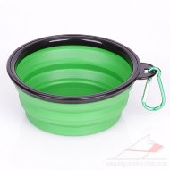 """Green Abyss"" Foldable Travel Dog Food Drinking Bowl"