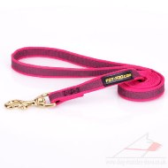 Ultramodern Pink Dog Training Leash For Middle And Large Dogs