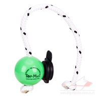 Green Magnetic Dog Ball on Rope with Multi Power Clip