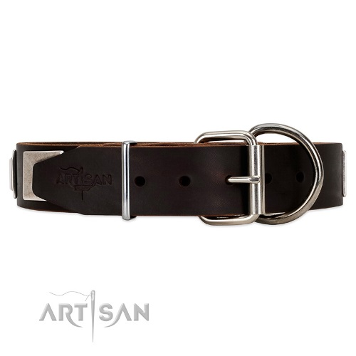 Artisan soft leather dog collar buy online
