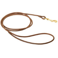 Dog Show Lead UK | Round Leather Leash for Dog Show