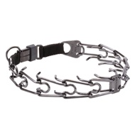 Great Pinch Collar for Dogs, 4 mm, Black Steel Wire