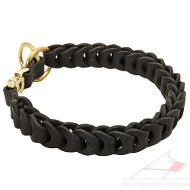 Dog Choke Collar New Chain Design | Braided Dog Collar Choker