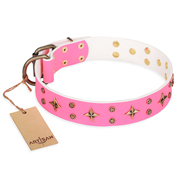 New Design Dog Collar FDT Artisan 'Chi-Chi Pink Rose'