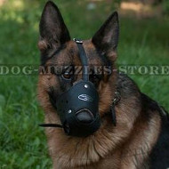German Shepherd Closed Dog Muzzle for Biting, Maximum Protection
