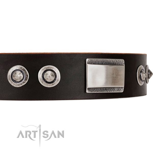 dark brown dog collar Artisan