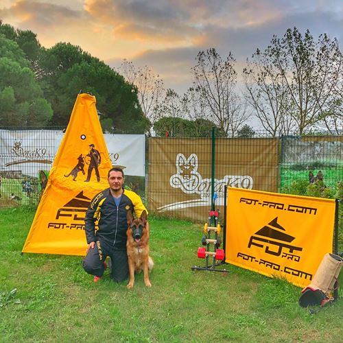 dog barrier for K9 training