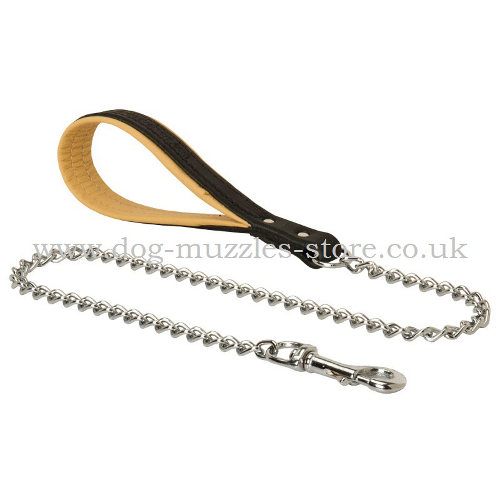 Chain Dog Lead with Handle