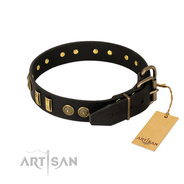 Buckle Big Thick Leather Dog Collars