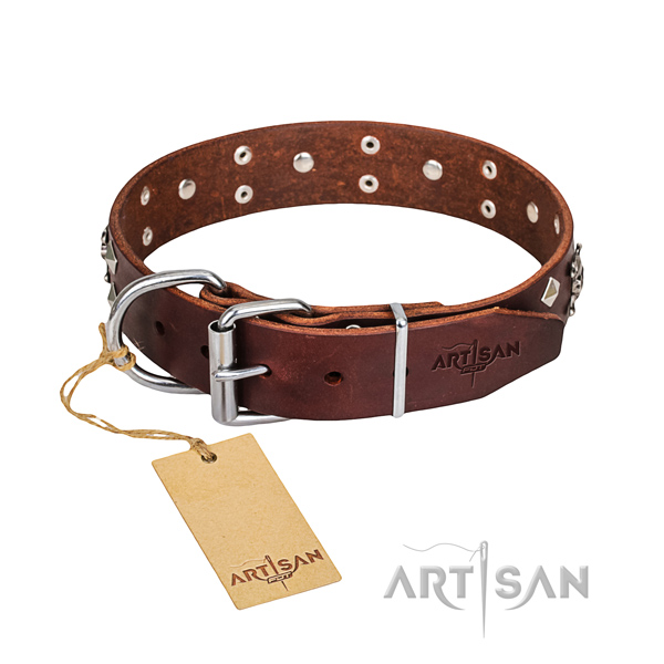Dog Collar of Genuine Leather for sale