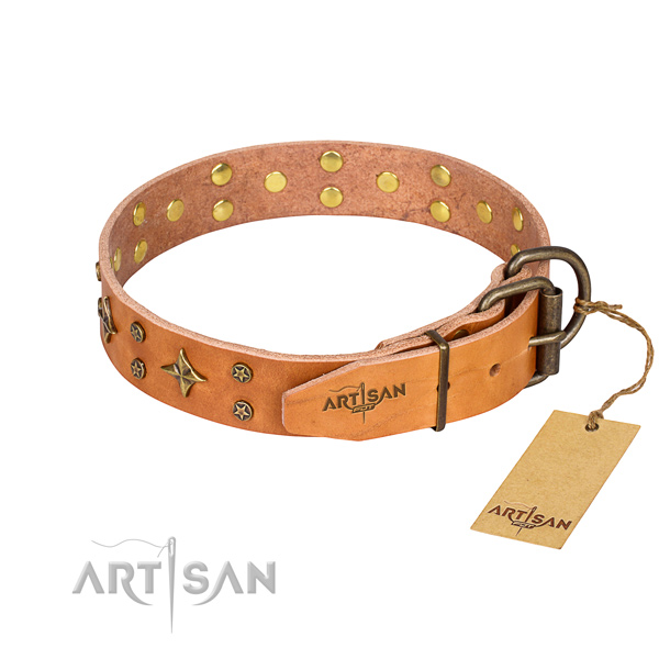 Leather Collar for Dog buy uk