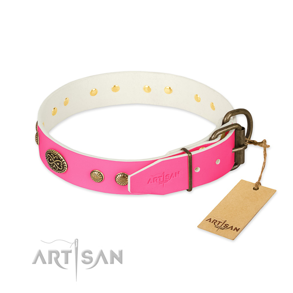 Buckle Leather Dog Collars Female
