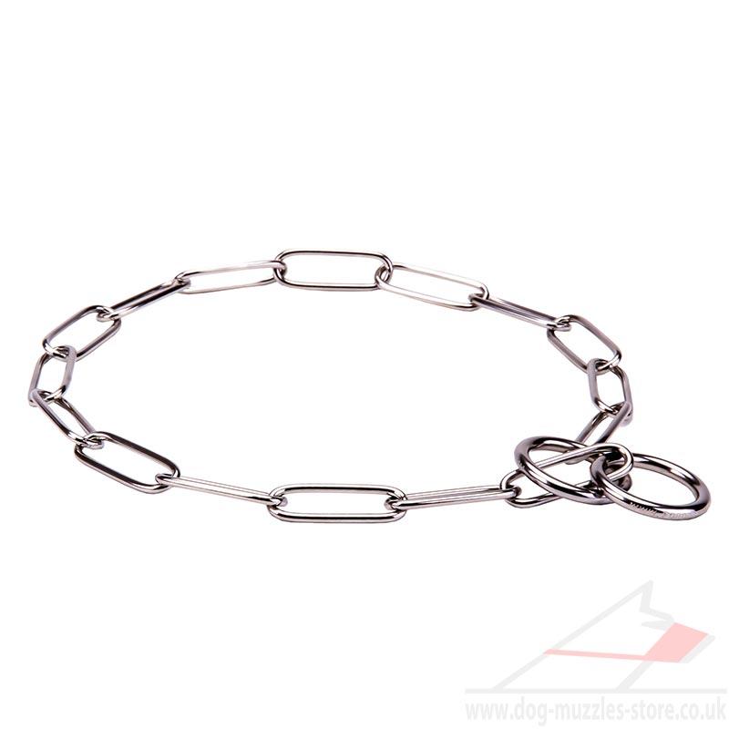 Steel Dog Collar Dog Collar Chain 3 Mm Wire Fur Saver
