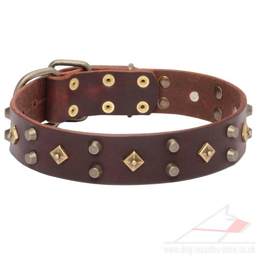 Brown Leather Luxury Dog Collars