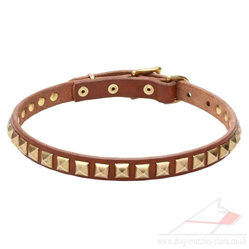 Natural Leather Dog Collar Design