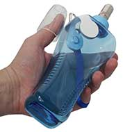 Travel Dog Drinking Bottle with Roller-Lock, Non-Spill!