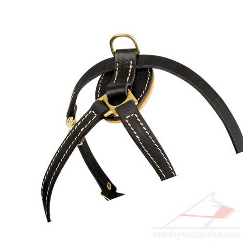 French Bulldog Harness Leather Padded