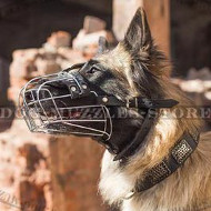 Bestseller Dog Muzzle with Soft Padded Basket for Tervuren