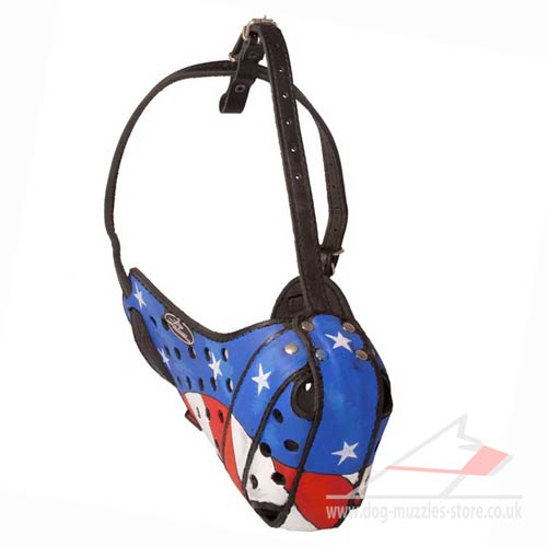 Hand Painted Service Dog Muzzle with Original Style
