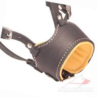 Leather Nappa Padded Dog Muzzle