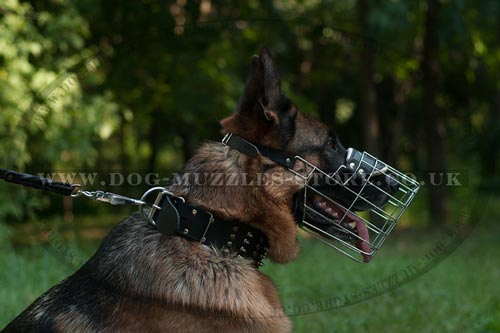 Wire Dog Muzzle for German Shepherd Size
