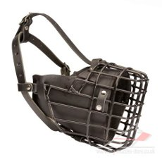 Rubber-coated wire basket dog muzzle K9